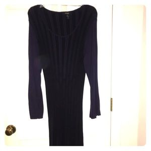 Style & Company Long black & purple striped dress